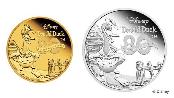 祝☆ドナルドダック誕生80周年!! 「かしこいメンドリ」レリーフの記念コインが発売されるよ〜っ!