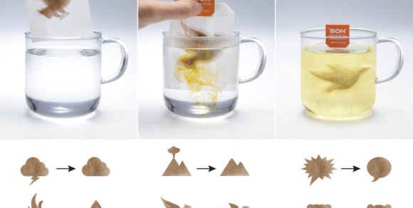 ティーバッグをお湯に入れると…? マレーシアの紅茶会社が考案したユニークなティーバッグがアイデア抜群♪