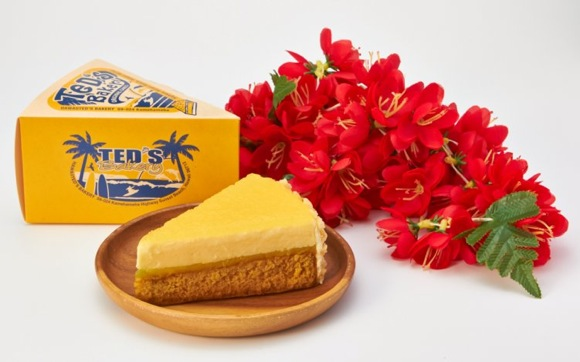 """ハワイの「TED'S Bakery」から、待望の大人気フレーバー""""パイナップルチーズケーキ""""が日本初上陸! PLAZAで販売されています♪"""
