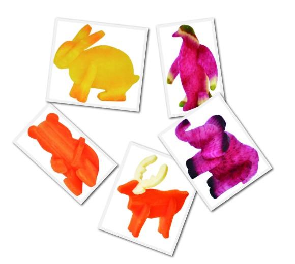【おしゃれサラダ】野菜やフルーツで3Dの動物たちが作れちゃう「ベジタブル・トイ」がかわいすぎて、むしょうに野菜が食べたくなっちゃうの~!!