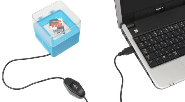 【オフィス便利グッズ】冷やしたり温めたりできる「USBミニ温冷庫」登場 / PCがあればお菓子を冷やせちゃうのだ!!