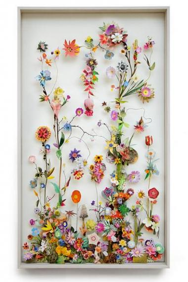 お部屋に飾ったら絶対ステキっ!! お花をモチーフにした繊細で優美な立体コラージュ