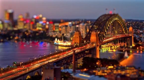 ミニチュア感が可愛すぎる! ティルトシフトを使ったシドニーのタイムラプス映像「Tiny Sydney」