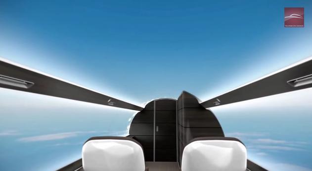 未来の飛行機は……窓がない!? 壁一面&天井全体がスクリーンと化したジェット機「IXION」