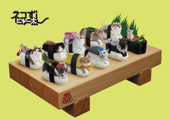 ニャンコとお寿司が合体!? 人気急上昇中「ネコずしニャー太」のメタルプレートが全国のガチャガチャにて発売されるぞーッ!