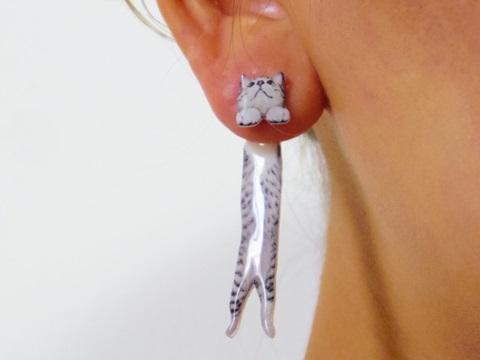 これはかわいい!! おうちのニャンコの写真からオーダーメイドしてくれる「実写ネコピアス」 / ネコ好きの気持ちをよくわかってらっしゃる!!