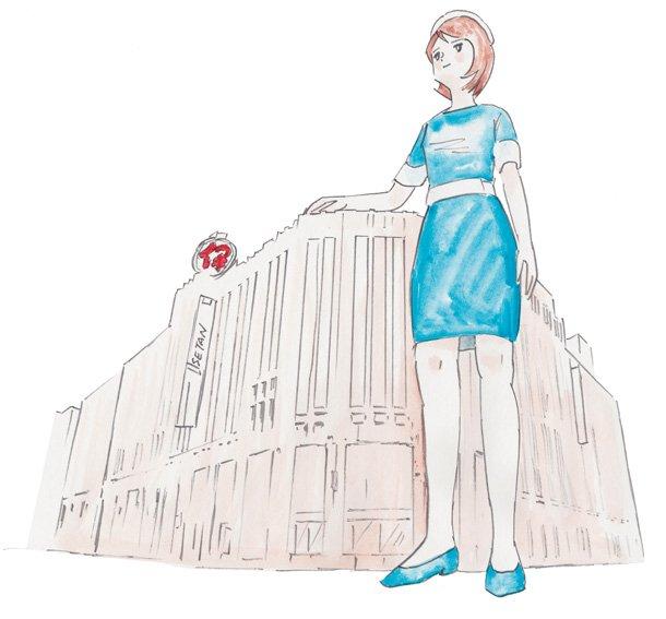 伊勢丹新宿店のウェブキャラクターに就任した「デパガちゃん」がでっかすぎる!