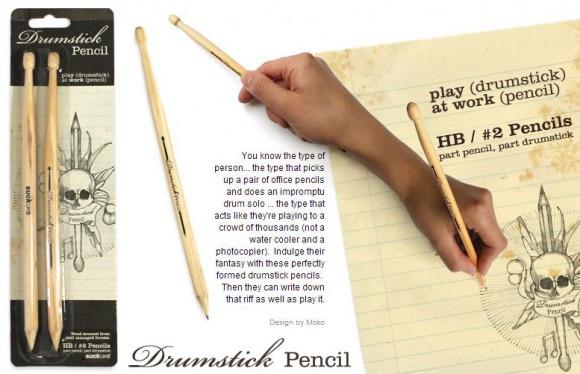 芯が折れないかちょっぴり心配!? 鉛筆にもドラムスティックにもなる気分転換に最高な珍アイテムを発見ッ!
