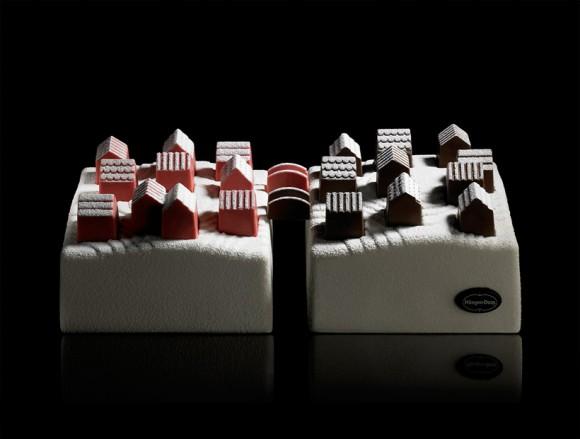 【ハーゲンダッツ】粉雪が降り積もる小さな村をイメージ! パリの限定クリスマス・アイスクリーム・ケーキがかわいすぎるぅ!!