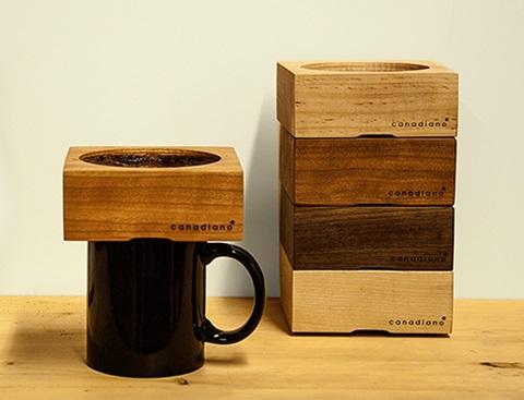 カナダ発! 木の香りのコーヒーを楽しめる木製ドリッパー「Canadiano(カナディアーノ)」が日本初上陸!