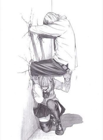 【どうしてこうなった】何度みてもジワリとくる…!! 漫画家・大野そら先生が「壁ドン」ならぬ「壁ズボ」を提唱