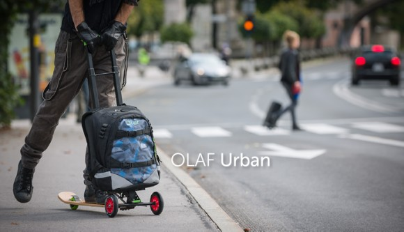 重い荷物、もう背負わなくてオッケー! バックパックがキックスケーターに早変わりする「OLAF Urban」で颯爽と走り抜けちゃおう!