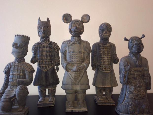 【芸術】古代中国と現代アメリカの感性がドッキング!! 「キャラクターの顔がついた兵馬俑」ってどんなの!?