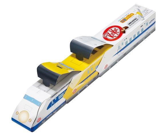 【祝・東海道新幹線の開業50周年】キットカットの限定フレーバー、冷凍みかん味が新幹線型のパッケージで登場したよ!
