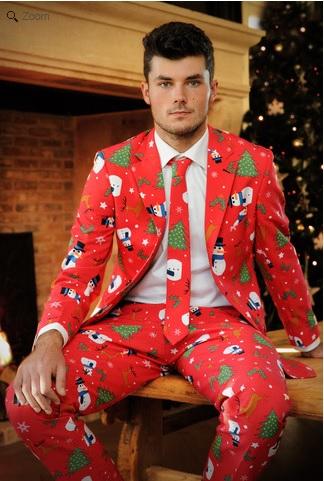 「ダサいクリスマスセーター」がついにスーツになっちゃった!! これならオフィシャルな場にも安心して着ていけちゃうねっ!