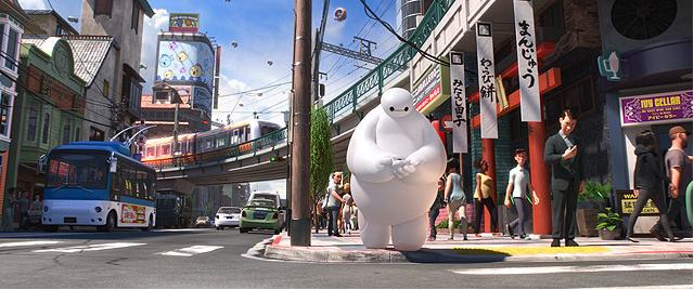 東京の歓楽街も出てくるよ! ディズニーの新作アニメ『ベイマックス』フワフワの癒し系ロボットがほしくなる!【最新シネマ批評】
