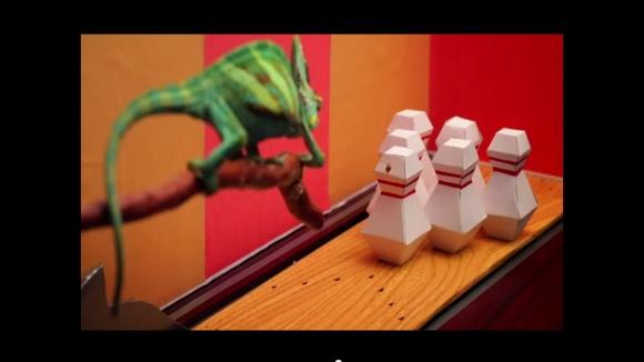 【なにこれ斬新】動画「カメレオンのボーリング大会」がクオリティ高すぎてじわじわくる