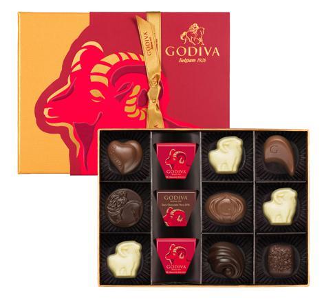 2015年の干支「未」がモチーフ♪ ゴディバが華やかパッケージがまぶしい限定チョコレートをリリースしたよ~!