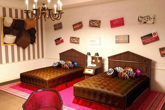 夢みたいなホテル!チョコだらけの「チョコレートルーム」がハウステンボスに登場します♪