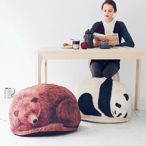 """可愛すぎる """"見せる収納"""" ♪ すやすや眠るクマさんやパンダさんにほっこり……動物お布団カバーを発見したよ"""