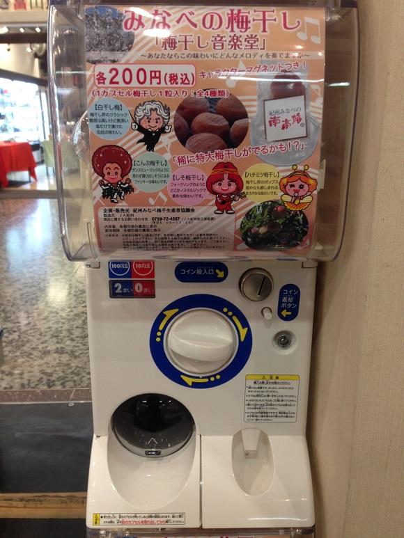 【当たりはレア梅干し!?】さすが和歌山県! 本物の「梅干し」が入ったガチャポンを発見!