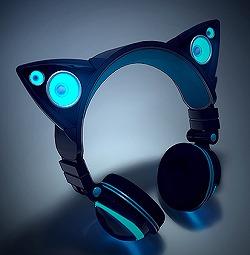 いよいよ「ネコ耳ヘッドフォン」の一般販売がスタートするぞぉ~ / ピンと立った耳がスピーカーになってるスグレモノですッ!