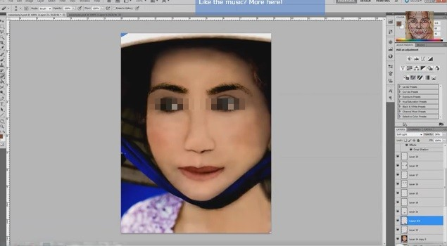 見よ、フォトショの威力! 画像加工ソフト「フォトショップ」で100歳のおばあちゃんを若返らせてみた動画