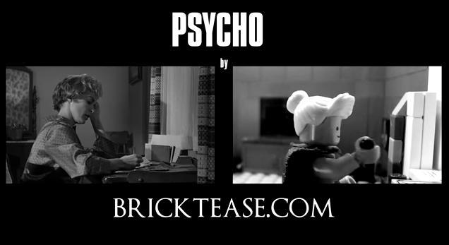可愛いんだけどちょっぴり怖い……サスペンスの神様・ヒッチコック監督の名作「サイコ」をLEGOで再現!