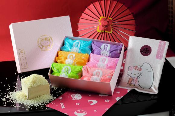 カラフルかわいい~!! 「キティちゃんのお米ギフト」 京都のお米マイスターが選んだ料理米がセットに!!