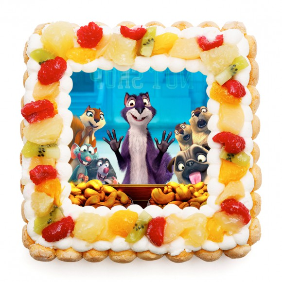 キャラケーキ専門店とアニメ映画「ナッツジョブ」がコラボ! キャラクターたちがドーンとプリントされたケーキが可愛すぎる♪