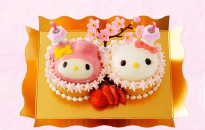 モンシェールの「ハローキティ」「マイメロディ」のひなまつりケーキが可愛い!!