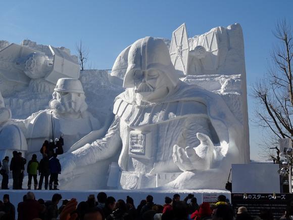 【さっぽろ雪まつり】ど迫力の雪像「雪のスターウォーズ」ができるまで