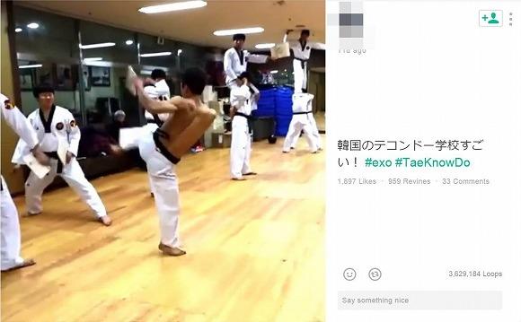 韓国のテコンドー教室のパフォーマンスがかっこよすぎると話題に / Twitterユーザーの声「すごすぎ!」「目まわらないかな?」