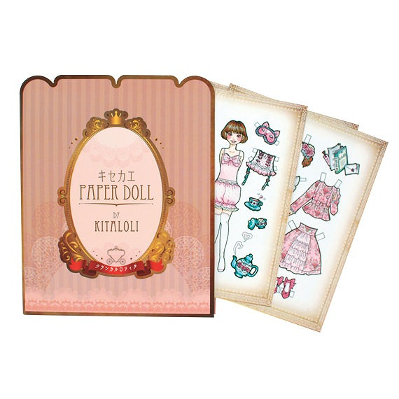 ハサミでチョキチョキ♪ ロリータのお洋服が昔懐かしい紙の着せ替え人形に / お人形とおそろいのファッションも楽しめます