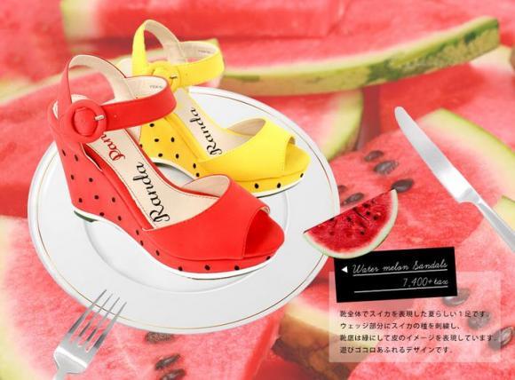 靴がまるごとスイカ・レモン・パイナップルに!?  RANDAのトロピカルなフルーツシューズがかわいいっ