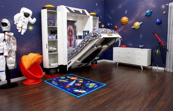 宇宙飛行士気分を味わえるコズミックな子ども用ベッド! ただしお値段が高すぎて子どもの夢を叶えられそうにない…!!