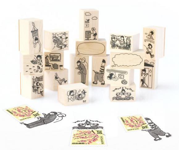 ハガキや手紙にクスッと笑えるひと工夫!! おもしろかわいいスタンプ「切手のこびと」が大人気