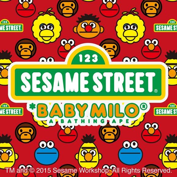 「ア ベイシング エイプ」と「セサミストリート」がコラボ! おなじみのキャラクターが新鮮かつ超キュートに登場♪
