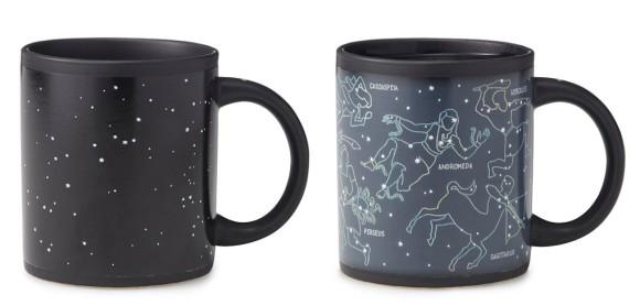 超ロマンチック!! お湯を注いだらヘラクレスやカシオペアなど星座のイラストが浮かび上がってくるマグカップ