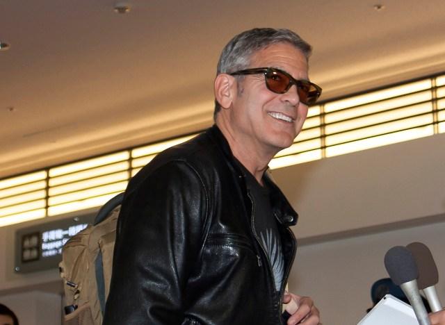 ディズニー映画『トゥモローランド』のプロモーションで来日したジョージ・クルーニーを羽田空港でお出迎えしたよ!