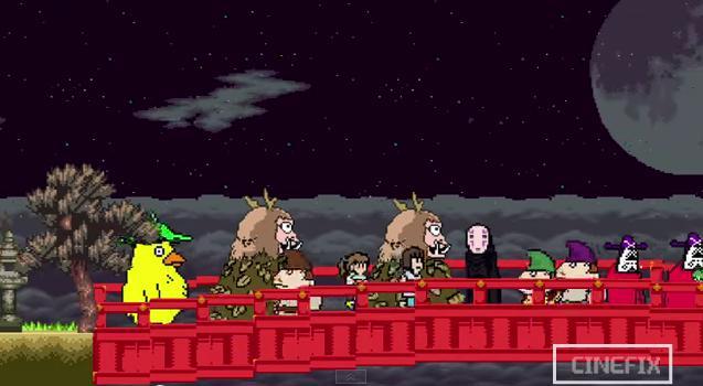 「千と千尋の神隠し」がファミコン風ショートアニメに! 8ビット化した八百万の神々が可愛すぎます♪
