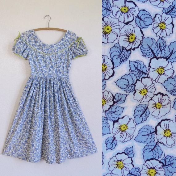 【日本から買える!!】Etsyでステキな古着オンラインショップを発見☆ 1940~90年代の花柄ヴィンテージドレスがとっても可愛い!!