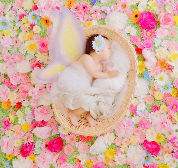 世界初「おひるねアート専門スタジオ」がオープン!! 赤ちゃんのかわいい瞬間をアート写真で残そうっ