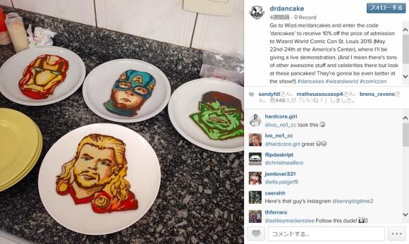 「アベンジャーズ」に「ドクター・フー」…パンケーキでアメコミキャラなどを自由自在に描いちゃう男性がスゴい!!