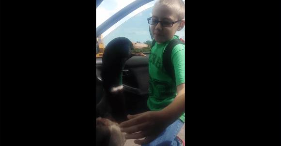 """「さみしかった!」車でお迎えにきたカモが、飼い主の少年を見つけた途端 """"グゲグゲ"""" 大喜びする動画が海外で話題"""
