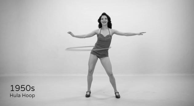 優雅なストレッチからセクシーなダンス、そしてパワフルなズンバへ…!「フィットネスの100年を振り返る動画」が興味深すぎた