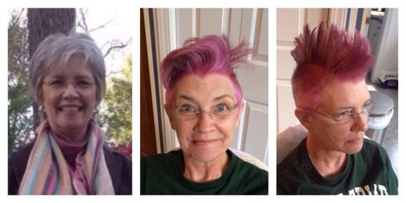 ある日ママが「ピンク色のモヒカンヘア」に大変身! なぜこんなことに…誰もが笑って涙する、その深い理由とは?
