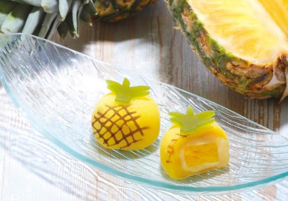 【冷やして食べよう】目にも舌にも美味しい♪ パイナップルみたいな「トロピカル冷やしパイナップル大福」が可愛すぎる!