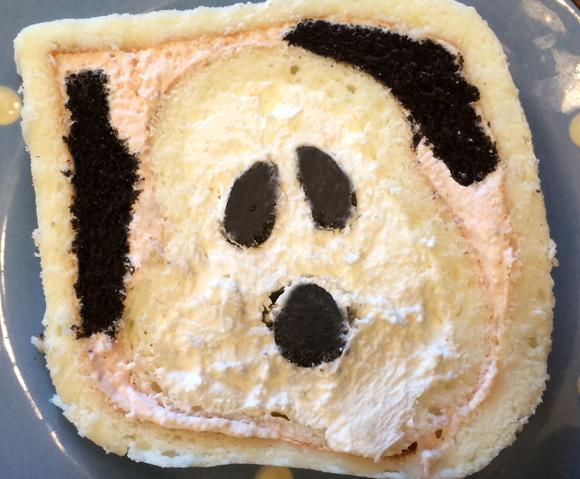 スヌーピーの金太郎飴状態や~!!「スヌーピー」のロールケーキをお取り寄せしてみたよ☆