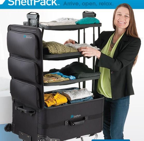 スーツケースがシェルフに早変わり!! アイデア商品「シェルフパック」があれば旅先での滞在がもっともっと快適に!